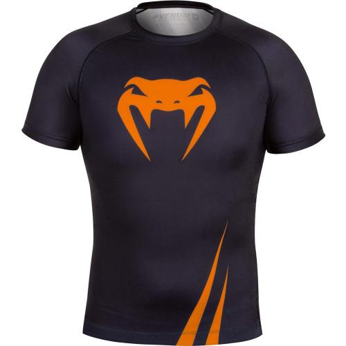 VENUM ベヌム/Rashguard Short Sleeves(Black/Neo Orange) 半袖 ラッシュガード