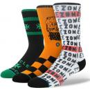 STANCE socks/Cycle Zombies(ホワイト)(3枚セット)